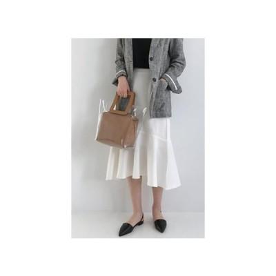 MINIBBONG レディース スカート Lane Linen Long Skirt-Ivory M