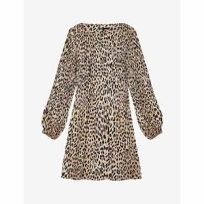 マージュ MAJE レディース ワンピース ミニ丈 ワンピース・ドレス Rockine leopard print mini dress NATURAL LEOPARD