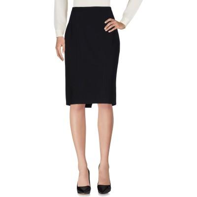 IRVINE SELLERS ひざ丈スカート ブラック 46 ポリエステル 88% / ポリウレタン 12% ひざ丈スカート