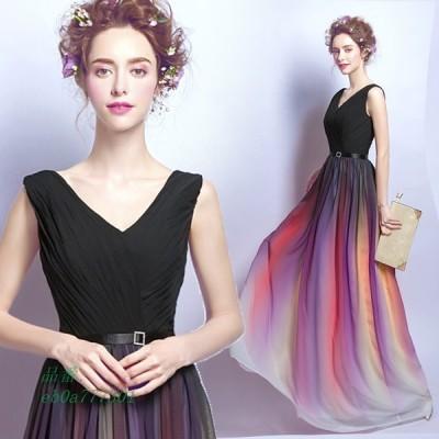 カラードレス 二次会 パーティードレス ロングドレス 花嫁 ウェディングドレス ウエディングドレス 結婚式 ドレス 演奏会 大きいサイズ イブニングドレス