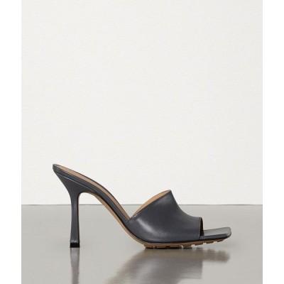 ボッテガヴェネタ BOTTEGA VENETA ミュール シューズ 靴 ライトグラファイト グレー ラムスキン
