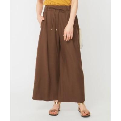 any SiS/エニィスィス 【洗える】リネン混イージー パンツ ブラウン 2