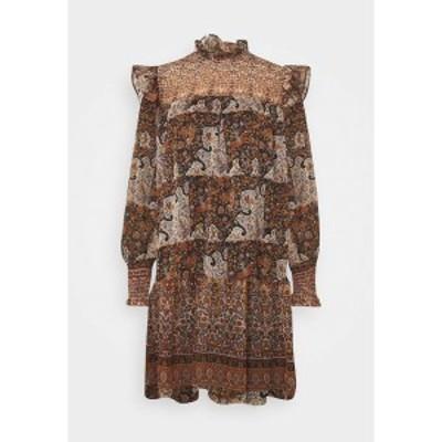 オブジェクト レディース ワンピース トップス OBJARYA SHORT DRESS - Day dress - sandshell sandshell
