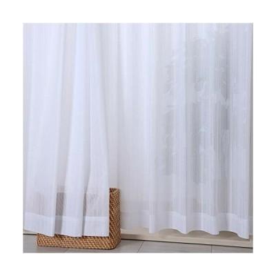 カーテン 日本製ミラーレースカーテン・ジュークレース (巾100×丈108cm) 2枚組