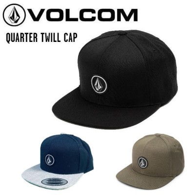 ボルコム VOLCOM QUARTER TWILL CAP メンズ スナップバック キャップ 帽子 スノーボード スケートボード サーフィン