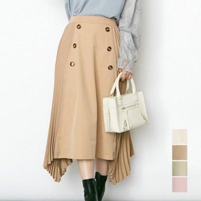 スカート 春夏 スカート フレアスカート ロング コーデ 40代 トレンチ プリーツ 無地 ボトムス レディース