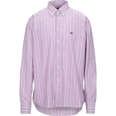 ヘンリーコットンズ HENRY COTTON'S メンズ シャツ トップス striped shirt Light purple
