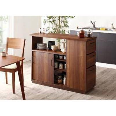 キッチンカウンター カウンターテーブル 完成品 間仕切り 目隠し 両面 キッチン 作業台 食器棚 キッチンボード ( キッチンカウンター )