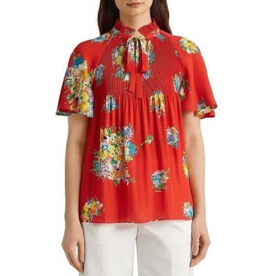 ラルフローレン レディース シャツ トップス Floral Print Micro Pleat Blouse