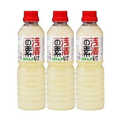 北杜食品 浅漬けの素白キムチ 500ml 3本セット