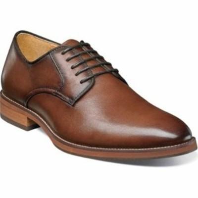 フローシャイム 革靴・ビジネスシューズ Blaze Plain Toe Derby Cognac Leather