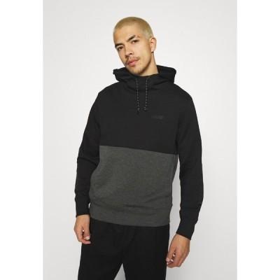 アメリカンイーグル カットソー メンズ トップス COLOR BLOCK PERFORMANCE  - Long sleeved top - black