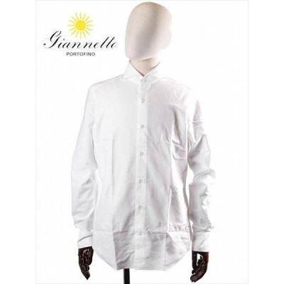 giannetto WHITE ESSENTIAL カッタウェイ オックスフォードシャツ ホワイト WE14600L84-001 ホワイトエッセンシャル 国内正規品