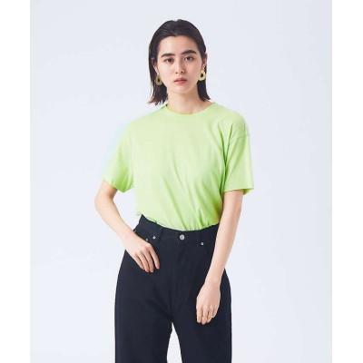 【カリテ】 リネンコットンアシメTシャツ レディース ライム F qualite