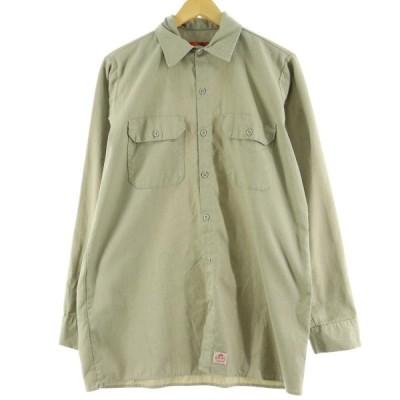 レッドキャップ Red kap 長袖 ワークシャツ メンズM /eaa082388