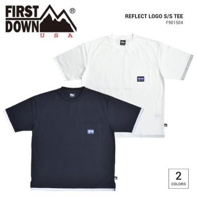 FIRST DOWN ファーストダウン Tシャツ REFLECT LOGO S/S T-SHIRT TEE 半袖 ポケT カットソー トップス F901504C 単品購入の場合はネコポス便発送
