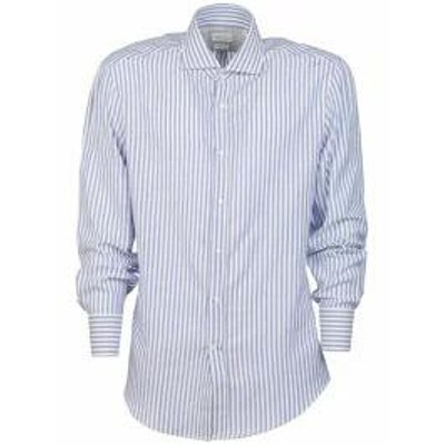 Brunello Cucinelli メンズシャツ Brunello Cucinelli Striped Shirt Blue/White