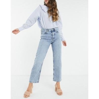マンゴ レディース デニムパンツ ボトムス Mango ultimate straight jeans in light blue