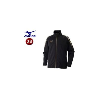 mizuno/ミズノ  32JC7010-90 ウォームアップシャツ 【XS】 (ブラック×ブラック)