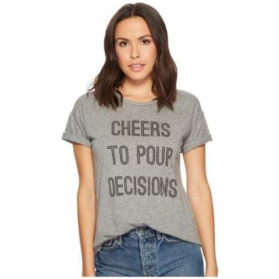 ユニセックス シャツ トップス Cheers To Pour Decisions Slub T-Shirt