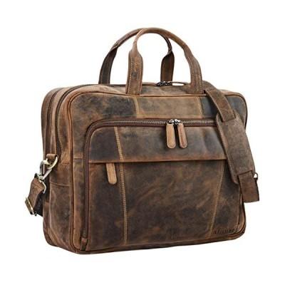 STILORD 'Jaron' Large Shoulder Bag Leather Men Women XL Laptop Bag 15.6 inches/College Bag/Portfolio/Shoulder Bag/Satchel/Business Bag Genuine Leather