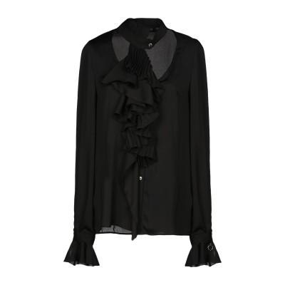 MANGANO シャツ ブラック 42 ポリエステル 100% シャツ