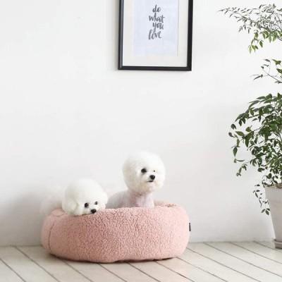 roomnhome ペットベッド クッション シュガードーナツ ピンク M サイズ