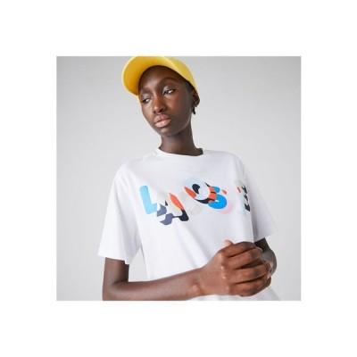 LACOSTE / カラーロゴプリントクルーネックTシャツ