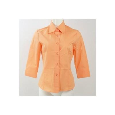 ビアッジョブルー(ViaggioBlu)オレンジストレッチブラウスシャツ