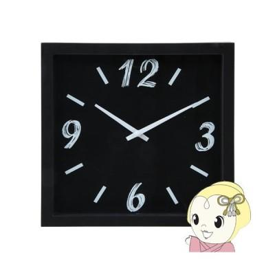【メーカー直送】不二貿易 掛時計 ペイント 直径23cm ブラック FUJI-99030