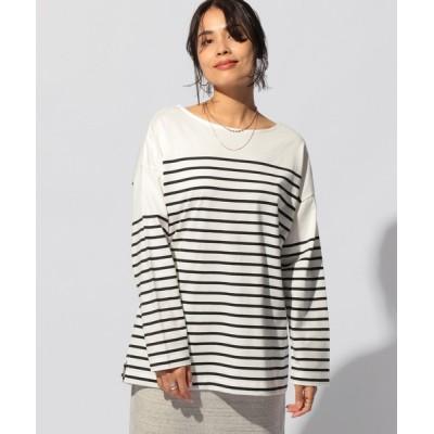 tシャツ Tシャツ パネルボーダーロングT