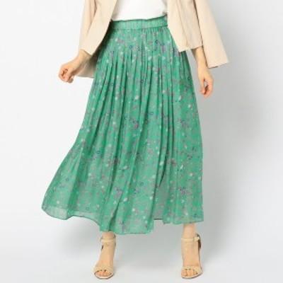 ノーリーズ レディース(NOLLEY'S)/ブライトサテンフラワープリントスカート