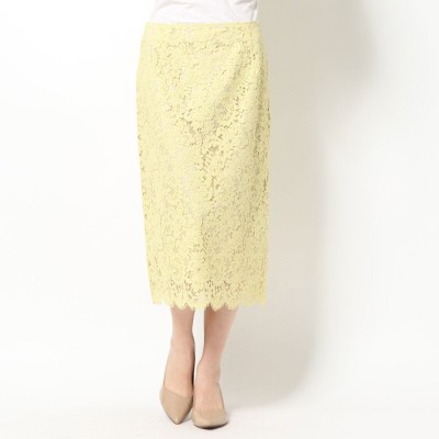 セルフォード CELFORD コードレースタイトスカート (イエロー)