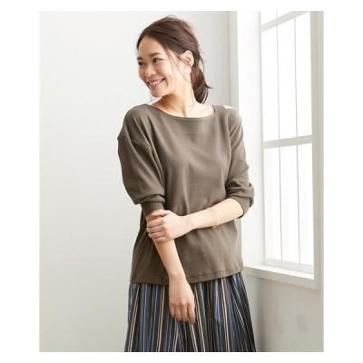 Tシャツ カットソー 大きいサイズ レディース 綿100% ワンショルダー プルオーバー LL/3L ニッセン nissen