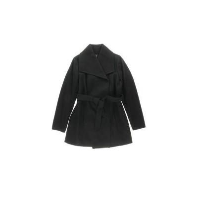 海外セレクション コート ジャケット アウター 冬 ぬくぬく Halifax 1515 レディース ブラック ウール Blend Lined Trench Coat L BHFO