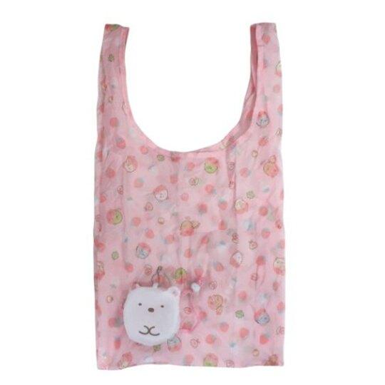 小禮堂 角落生物 北極熊 折疊尼龍環保購物袋 環保袋 側背袋 (白 大臉)