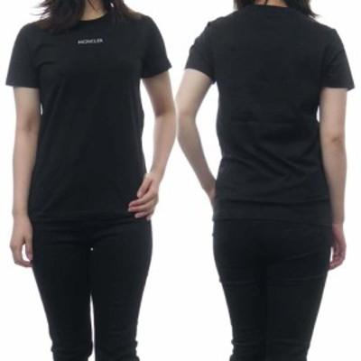 MONCLER モンクレール レディースクルーネックTシャツ 8C7A6-10-829FB ブラック /2021春夏新作
