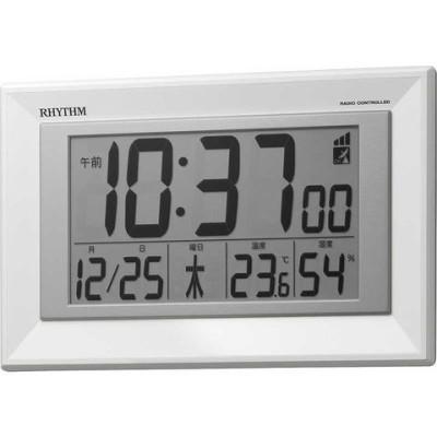リズム時計 RHYTHM 掛置兼用 電波デジタル時計「フィットウェーブD204」 8RZ204SR03