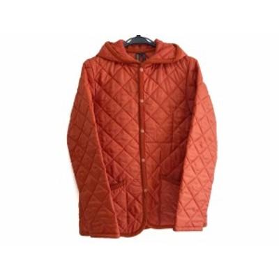 ラベンハム LAVENHAM ダウンジャケット サイズ40 M レディース - オレンジ 長袖/キルティング/冬【中古】20201222