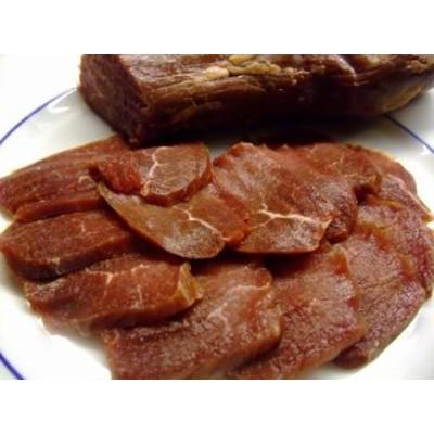 冷凍 蝦夷鹿(しか)のもも肉の生ハム1Kg(約3~5パック)