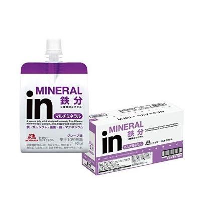 inゼリー マルチミネラル グレープ味 (180g×6個) 栄養補助ゼリー 10秒チャージ 5種類のミネラル配合 栄養機能食品(鉄・カルシウム・亜鉛・