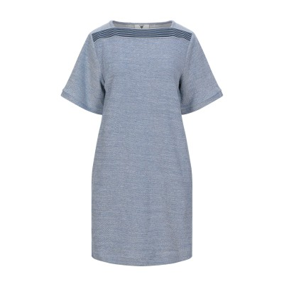 TWINSET UNDERWEAR ミニワンピース&ドレス ブルーグレー S コットン 32% / レーヨン 32% / ポリエステル 30% /