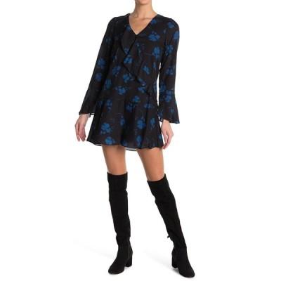 パーカー レディース ワンピース トップス Long Sleeve Ruffle Shirt Dress FULTON STE