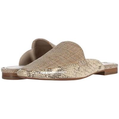 サム エデルマン Eiko レディース ローファー Natural/Wheat Multi Shimmer Linen/Exotic Snake Print Leather