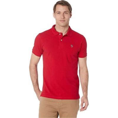 ユーエスポロアッスン U.S. POLO ASSN. メンズ ポロシャツ トップス Multi Logo Polo Engine Red