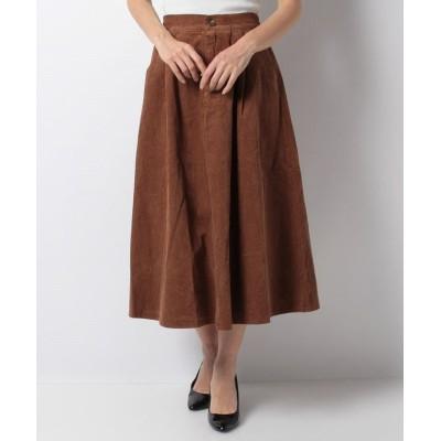 【アクシーズファム】 コーデュロイスカート レディース ブラウン M axes femme