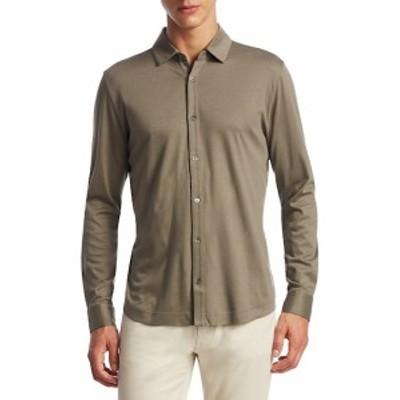 サックスフィフスアベニュー メンズ カジュアル ボタンダウンシャツ COLLECTION Long Sleeve Button-Down