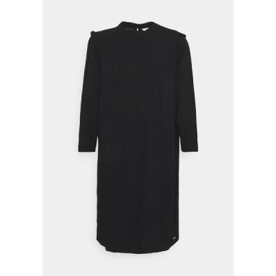 トムテイラーデニム ワンピース レディース トップス PRINTED MINI DRESS - Day dress - deep black