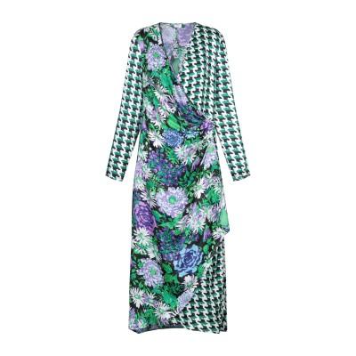 RIXO ロングワンピース&ドレス グリーン M レーヨン 70% / シルク 30% ロングワンピース&ドレス