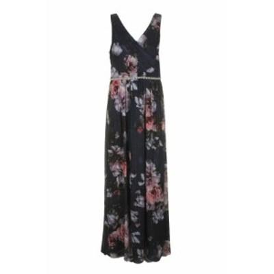 Maxi  ファッション ドレス Sl Fashions Navy Multi Sleeveless Florla Print Maxi Dress 10